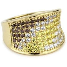 "Anyone have a knock-off? MYIA PASSIELLO ""Pave Colors"" Swarovski Zirconia Saddle Ring $155"