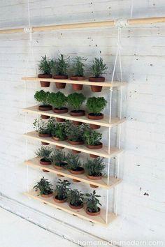 Astuce deco étagère à plantes