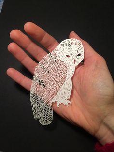 Unique & delicate Paper ART by Maude White
