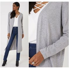 Long Open Front Grey Maxi Cardigan Duster Jacket Knitted Coatigan Sizes 8 10 12 #Unbranded #Cardigans #Casual Coatigan, Grey Maxi, Maxi Cardigan, Duster Jacket, Knitwear, Cardigans, Winter Fashion, Clothes For Women, Blouse