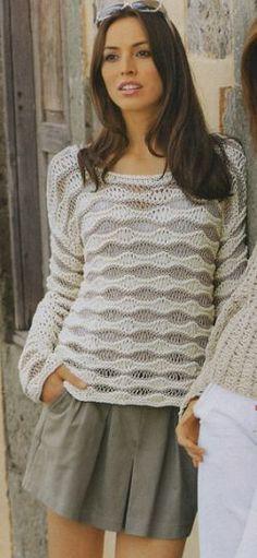 Пуловер со спущенными петлями. Обсуждение на LiveInternet - Российский Сервис Онлайн-Дневников