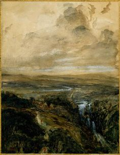 Theodore Rousseau - Landscape in the Auvergne, 1830