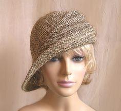 So cute!! (Ava seagrass side drape millinery hat by LuminataCo on Etsy, $75.00)