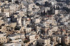 Arab Silwan village by Jerusalem (buildings, city, cluster, david, hebrew, houses, israel, jerusalem, jew, jewish, Kidron, population, separation, settlement, Shiloah, Siloam, Silwan, town, valley, village)