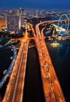 Singapore highway by CoolbieRe, via Flickr