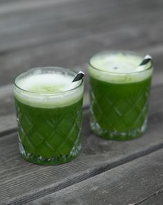 GreenJuice - pineapple, lime, spinach and ginger