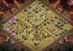 Best War Base Designs With **Links** Which are Anti Bowler, EDragons that can withstand competitive opponets attacks from anti 2 and 3 stars. Clsh Of Clans, Archer Queen, Clan Castle, Trophy Base, Clan Games, Nintendo Ds Pokemon, Clash Of Clans Game, Barbarian King, Giant Bomb