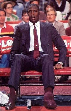 MJ in street clothes