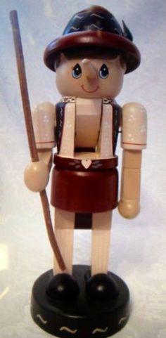 "1996 12"" Zim's Collectible Pinocchio Wood Nutcracker RARE | eBay"