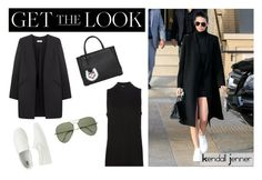 """""""Get The Look: Kendall Jenner's High Neck Dress"""" by jennytrends ❤ liked on Polyvore featuring Uniqlo, Fendi, Non, T By Alexander Wang, Ray-Ban, GetTheLook, kendall and kendalljenner"""