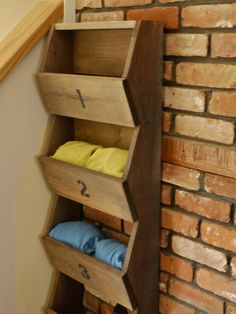 diy storage boxes:  for hats and mitts in the entry?