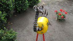 Emu Garden Art. Emu garden sculpture made from recycled gas bottle and assorted items . Stands 1.100m high.