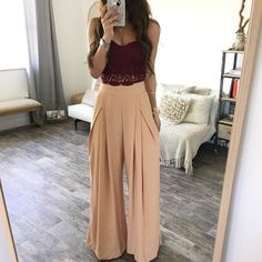 summer outfits with hijab best outfits - Page 12 of 100 - What to Wear Ideas Plazzo Pants Outfit, Pallazo Pants, Classy Outfits, Stylish Outfits, Boho Fashion, Fashion Outfits, Fashion Pants, Fashion Women, Winter Fashion