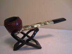 Vintage Retro Metallic Style Nylon Brand Estate Pipe With Removable Bowl