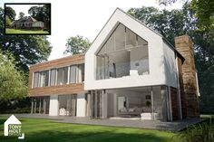 Image result for glass pitched roof extension dormer