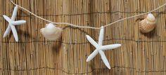 Yellow  Cup & White Starfish Garland