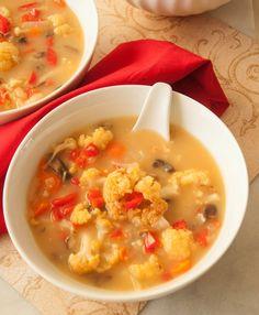 Roasted Cauliflower Soup {Via @Norma_D {Allspice and Nutmeg}}
