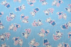 """Vintage 1930s """"Playful Kitty"""" fabric .. so cute for a child's pajamas or dress!"""