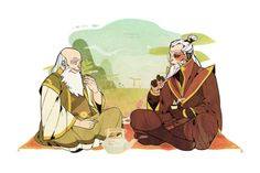 polapaz321: Visiting Uncle Iroh.  edit:  The scar face can't grow hair.  畫錯了今天才發現www