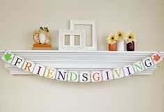 Thanksgiving Decor, Friendsgiving Banner, Fall Home Decor, Thanksgiving Hostess Gift, Thanksgiving Banner, Friendsgiving, Glitter, B041