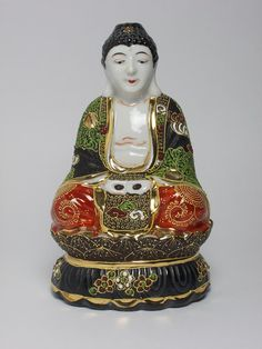 Antique Japanese porcelain Buddha made by SimonCurtisAntiques