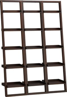 """Sloane Java 18"""" Leaning Bookcase Set of Three    Crate and Barrel"""