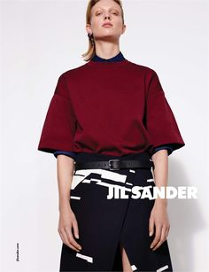 Collier Schorr shoots Annely Bouma for Jil Sander Spring/Summer 2015 Campaign.