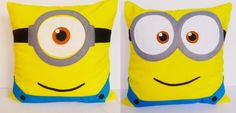 Despicable Me: Minions inspired cushions....I bet I could figure out a knit pattern for this!