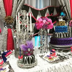Animal print masquerade Quinceañera party! See more party planning ideas at CatchMyParty.com!