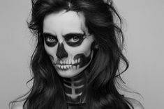 skull makeup girl - Buscar con Google