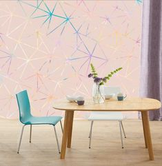 Iridescent Holographic Pink Gold-Multicolor Geometry Wall Sticker decor Ceiling Wall Mural Self Adhesive Exclusive Design Photo Wallpaper Vinyl Wallpaper, Sparkle Wallpaper, Paper Wallpaper, Self Adhesive Wallpaper, Photo Wallpaper, 3d Wall Murals, Floral Theme, Holographic, Wall Stickers