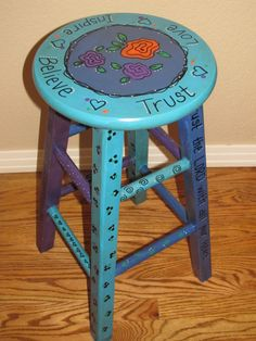 upcycled old stool