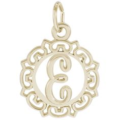 Rembrandt Charms, Letter E -- Click on the image for additional details. (This is an affiliate link) #JewelryDesign
