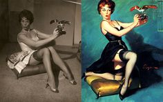 If you think these poses look impossible it's because they are!  Many of these paintings were based on photographs.  It was the photoshop if its time!