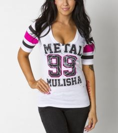 Metal Mulisha Maidens Lucky Football Tee!! Part of my wardrobe ;)
