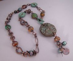 Sundown Bead Designs Rhetoric: Soups On. I love the handmade copper links she incorporated in this necklace.