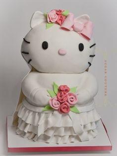 Hello Kitty Bridal Shower Cake