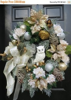 Santa Claus Wreath, Christmas Wreaths And Swags, Christmas Wreath Sale,  Christmas Deco Mesh Wreath, Christmas Wreaths For Front Door | Pinterest |  Christmas ...