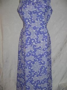 Vintage 60's Pucci style  Sleeveless Maxi Dress by 2nuttygirlz, $55.00