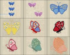"""""""Butterfly Beauty Applique"""" +Free Sample!  Comes with an assortment of applique butterflies and coordinating, filled mini butterflies for that additional special touch on projects! Flutter over!"""