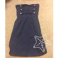 Nautical summer dress Adorable navy dress with tie in the back. ⚓️ Cute with a pair of flip flops or dress up with a pair of wedges  Vanity Dresses