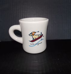 "Green Life is Good Coffee Mug ""Do What You Like. Like What You Do"" Dog on Sled"