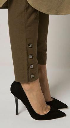 Square Button Trousers #pantsWomen