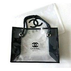 e0da92aad1f6 Medium Chanel Transparent Beaute Makeup Cosmetic Tote Bag VIP Gift  Transparent Bag, Chanel Designer,