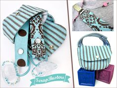 """""""Pacifier Lanyard + Carrying Pouch"""" Free Tote Bag Pattern Edited by Liz Johnson from Sew 4 Home"""