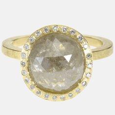 Todd Reed. 18ky gold, white fancy cut diamond(3.96ctw) white brilliant cut diamonds(.096ctw)