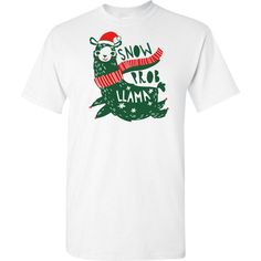 This Llama Christmas T-Shirt features a 'Snow Prob Llama' headline with a picture of a llama wearing a Santa hat and scarf. Get the llama lover in your life this llama t-shirt for Christmas and they will be full of joy! Llama Christmas, Christmas Truck, Christmas Shirts, Christmas Sweaters, Christmas 2019, Halloween Costume Shop, Christmas Costumes, Halloween Costumes For Kids, Llama Shirt