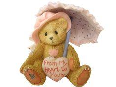 Vintage 1993 Enesco Collector Bear Figurine by BelleBloomVintage