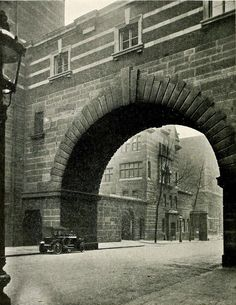 The granite arch of Scotland Yard, London