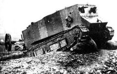 New Weapon- The little Willie, the first tank created in WW1